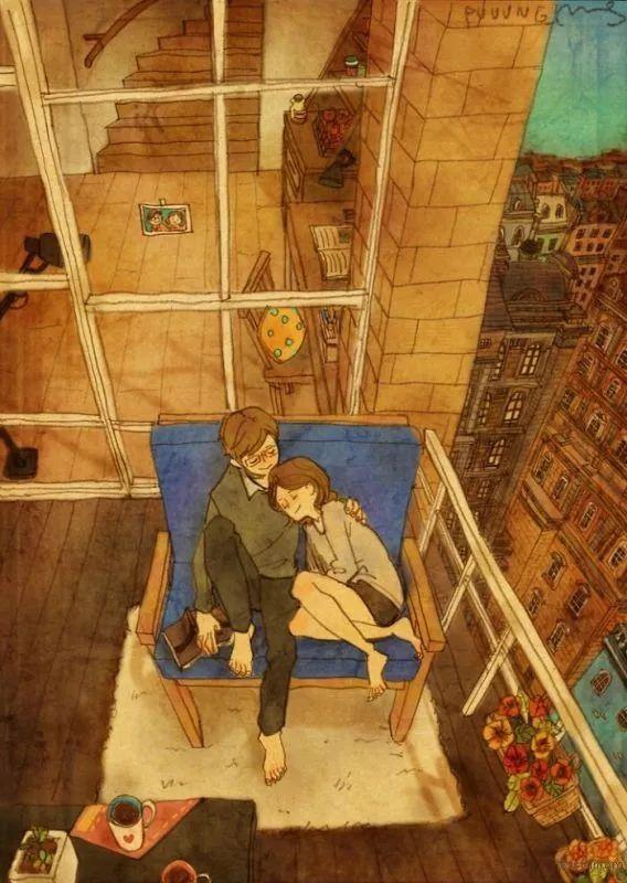 Love is…?暖心的恋人插画,让你重温爱情中那些微小的幸福