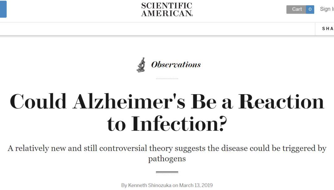 阿尔茨海默病是一种感染反应吗?